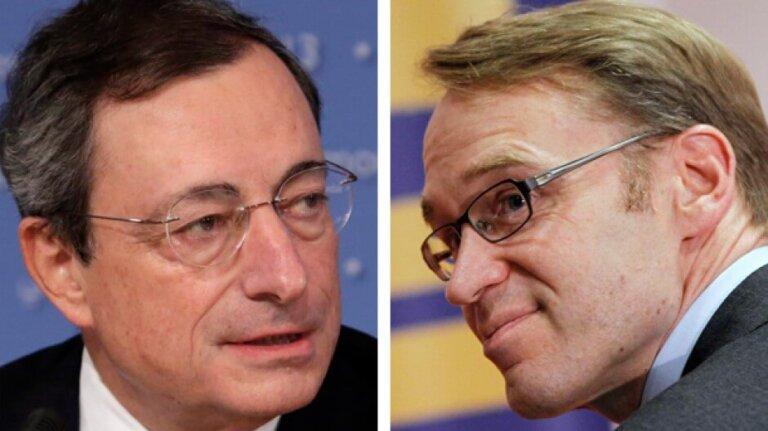 Mario Draghi e Jens Weidmann