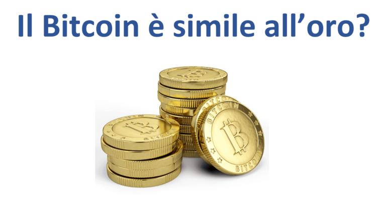 Bitcoin d'oro monete