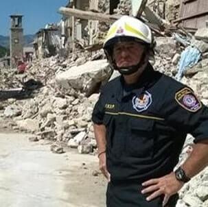 Pompiere erore di NewYork ad Amatrice