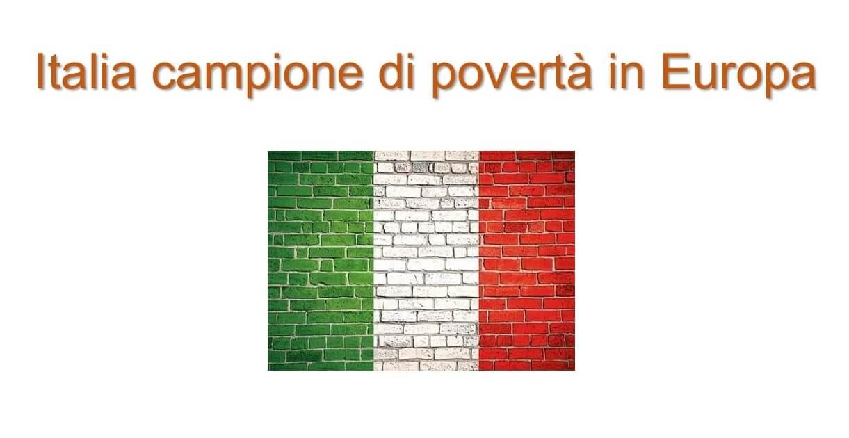 Bandiera italiana su muro
