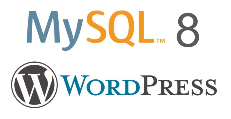 MySQL 8 con Wordpress